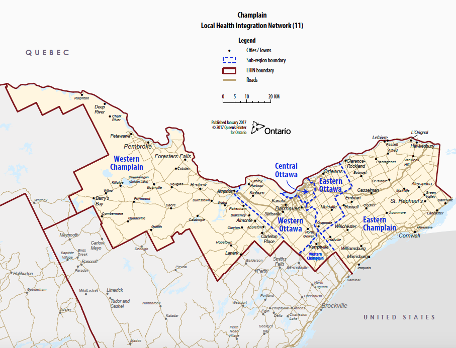 Champlain Region Map